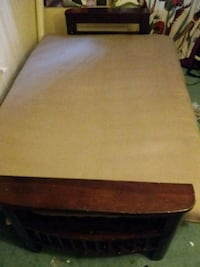 brown wooden framed brown padded ottoman San Diego, 92101