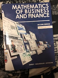 Mathematics of Business and Finance second edition by Daisley book