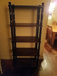 black and brown wooden rack