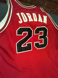 Authentic 1984-85 Hardwood Classics authentic red Jersey Albany
