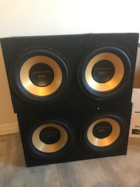 """No shipping 4 - 12"""" 800w subs in box Edmonton, T5G"""