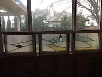 Antique 4 paneled stained glass windows early 1920's Manteca