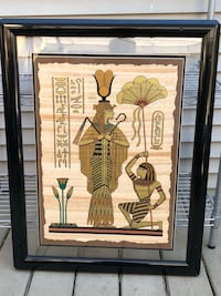 Black wooden framed painting of queen of the Nile Vancouver, V5S 4J1