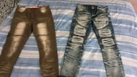 Designer jeans 30 -for both 20- each Clinton