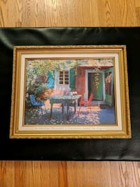 Painting with Beautiful Gold Coloured Frame Toronto, M2M