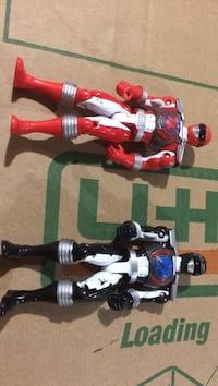 red and black power ranger action figures Oshawa, L1L 0B1