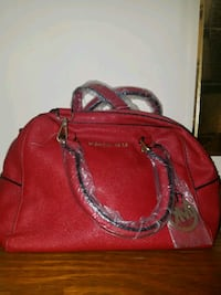 red leather 2-way bag Gibson, 70356