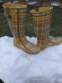 Sperry Lovely Plaid Wellies Rubber boots