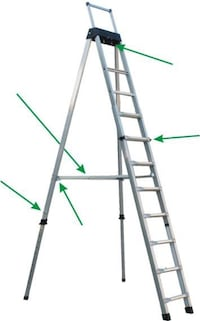 8 - 16 Ft ladder made by Faxko Natick, 01760