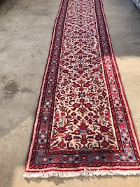 Red and white floral runner rug Mc Lean, 22102