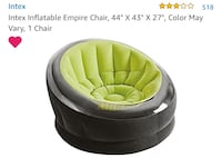 Green inflatable lounge chair  Revere, 02151