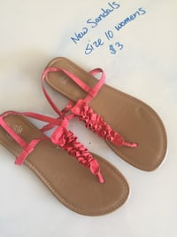 pair of brown leather sandals Redding, 96003