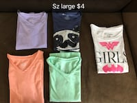 four assorted color tank tops Nampa, 83686
