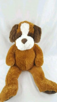 Stuffed brown and white toy  animal