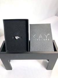 Kay Jewelers Diamond Heart Accent Ring In Sterling Silver (New) Albuquerque, 87110