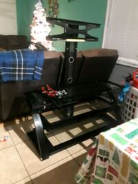 black wooden framed glass-top TV stand Oxon Hill, 20745
