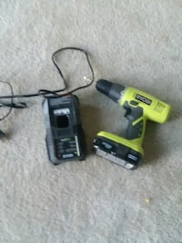 Green and black ryobi cordless power drill Washington, 20019