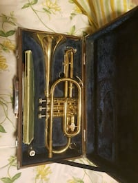 brass-colored trumpet with case Lloydminster, T9V 0A6