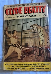 Clyde Beatty 84 Giant Pages book