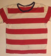 Hanna Andersson red and white striped tee 140cm 201 mi