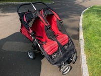 baby's black and red twin stroller White Plains