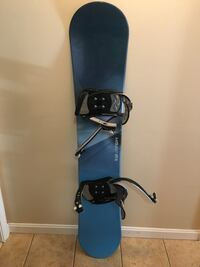 Black and blue snowboard with bindings Manassas, 20112
