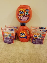 Tide 100 oz liquid and 122 tide pods - $40 Boyds, 20841