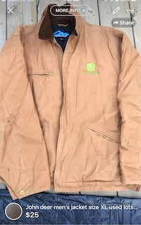 John deer men's jacket size XL used lots of life left few soil stains here and there London, N5W 6E3