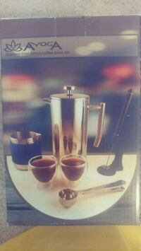 Ayoga stainless steel French coffee press set Ashburn, 20147