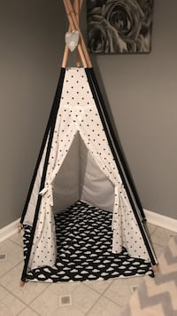 black and white camp tent Falls Church, 22042