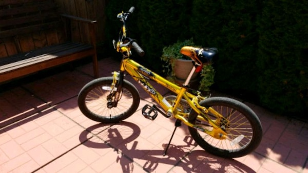 Toddler's yellow and black bicycle