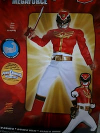 Red in white, gold  power, Rangers ,Megaforce Whitby, L1P 1A2
