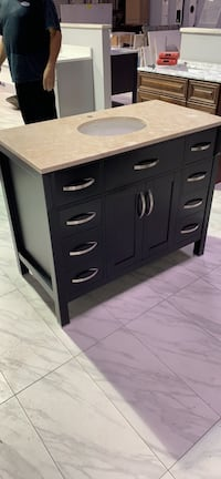 """42"""" bathroom vanity single sink cabinet 8 drawers with beige marble countertop brand new Fairfax, 22031"""