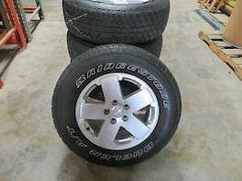 Keep wrangler set of tires great condition
