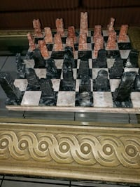 MARBLE CHESS SET .