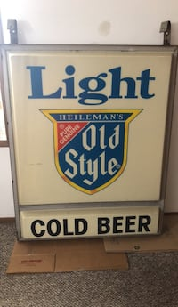 5' by 4' old style bar sign