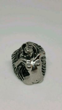 Stainless steel lady ring Mobile, 36693