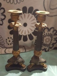 Antique brass candle holders St. Thomas, N5P 1C2