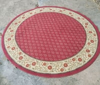 round white and red floral area rug Shreveport, 71104