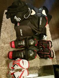 Hockey equip full set+ bag youth-small Age 9-11  550 km