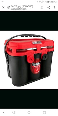 New red top Optima battery