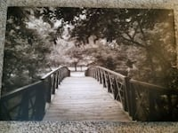 "Black and white canvas photo/frame 32.5""L x 22.5""W Levittown"