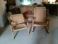 Vintage wicker rocker and chair from Guam Calera, 74730