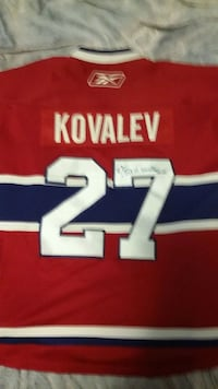 Montreal Canadiens Autographed Jersey 200$ obo New Westminster, V3M 3V6