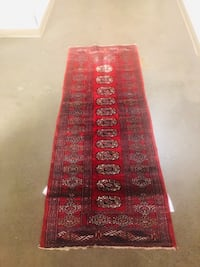 "31x81"" handmade wool runner"