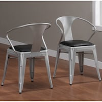 Padded Silver Tabouret Chairs (2) Oakland, 94601
