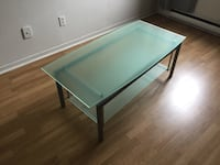 rectangular blue wooden coffee table Charlemagne, J5Z 3E1