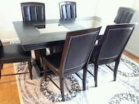 rectangular black wooden table with six chairs dining set Gaithersburg, 20878