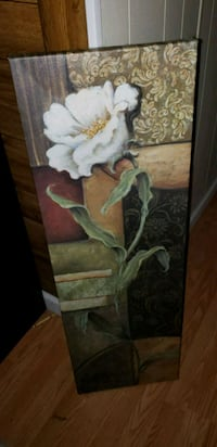 white and green floral painting Alexandria, 22306