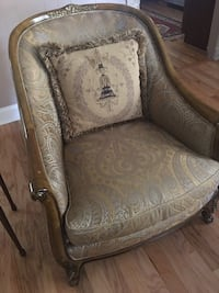 Brown and gray floral fabric sofa chair Sandy Springs, 30328